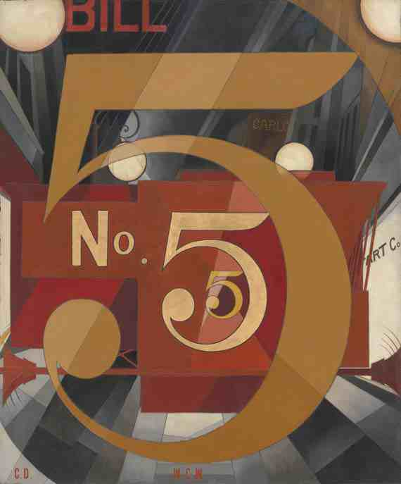 Charles Demuth, I Saw the Figure 5 in Gold