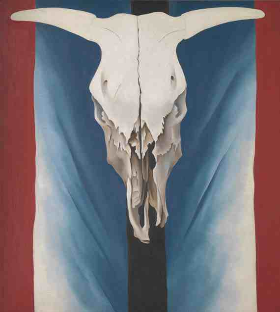 Georgia O'Keeffe Cow's Skull: Red, White, and Blue