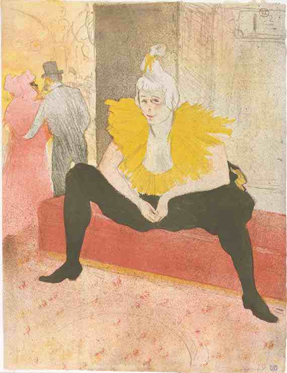 Henri de Toulouse-Lautrec, The Seated Clowness
