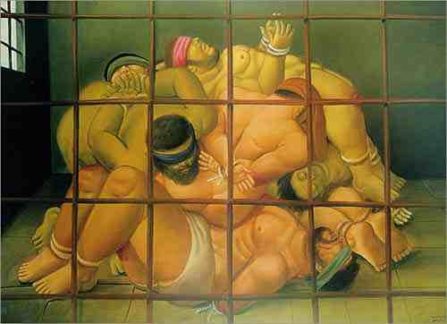 Abu Grhaib 57 by Fernando Botero