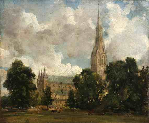John Constable: Salisbury Cathedral from the South West