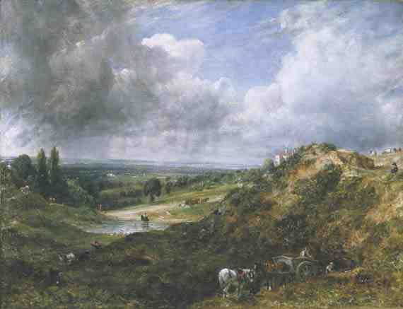 John Constable: Hampstead Heath, Branch Hill Pond