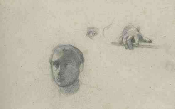 Edgar Degas: Self-Portrait and Details of Hand and Eye
