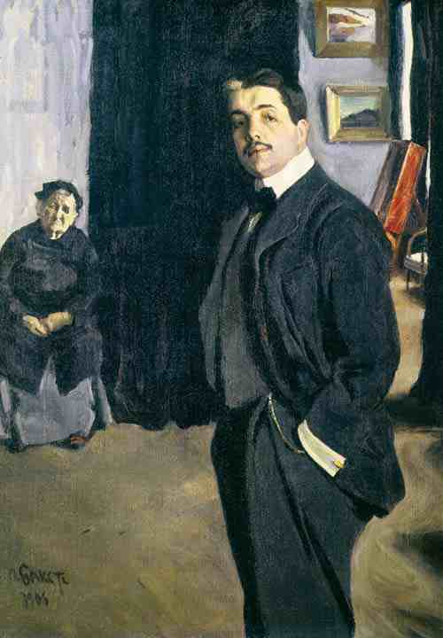 Portrait of Sergei Diaghilev and his Nanny by Leon Bakst