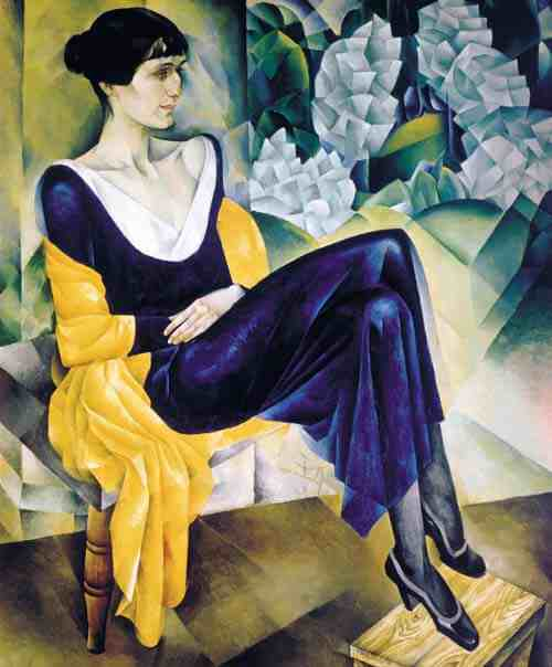 Portrait of the Poetess Anna Akhmatova by Natan Altman