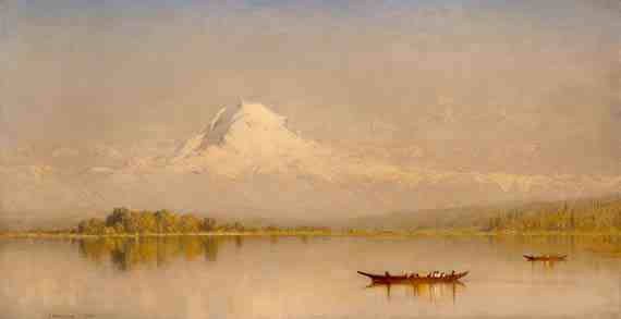Mount Rainier, Bay of Tacoma Puget Sound, Sanford Robinson Gifford