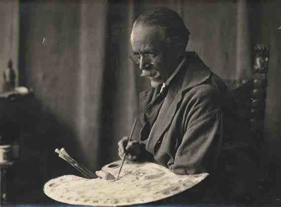 L. Matthes: Henry Ossawa Tanner with palette