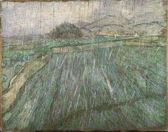 Vincent Willem van Gogh: Wheat Field in Rain