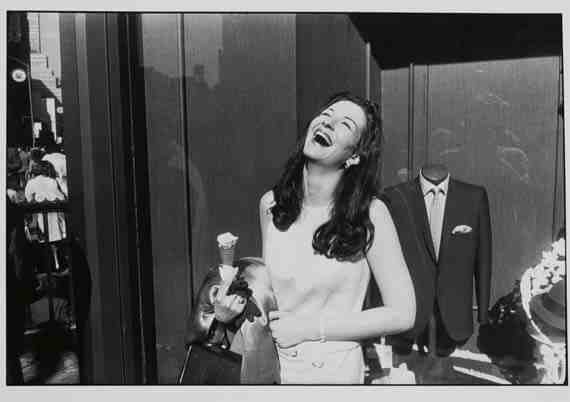 Garry Winogrand: Laughing Woman with Ice Cream Cone