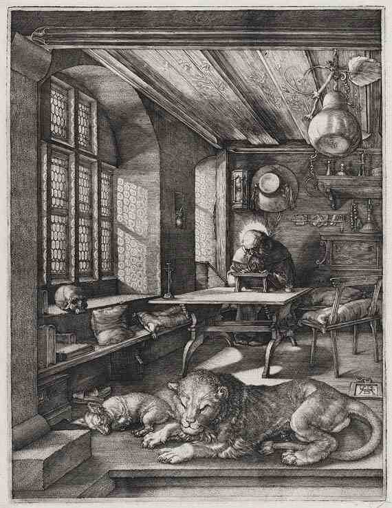 Albrecht Dürer Saint Jerome in his Study
