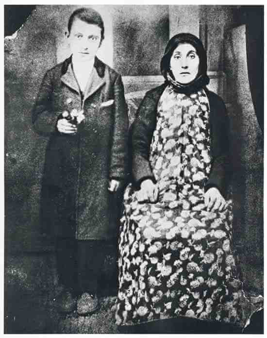Arshile Gorky and his mother, Van city, Turkish Armenia, 1912