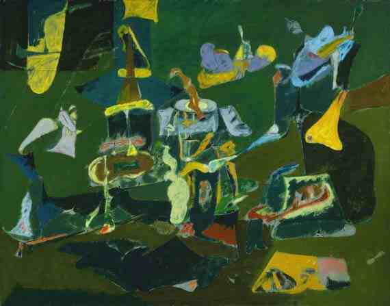 Arshile Gorky: Dark Green Painting