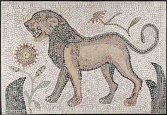 Mosaic of a Lion from the Hammam Lif Synagogue