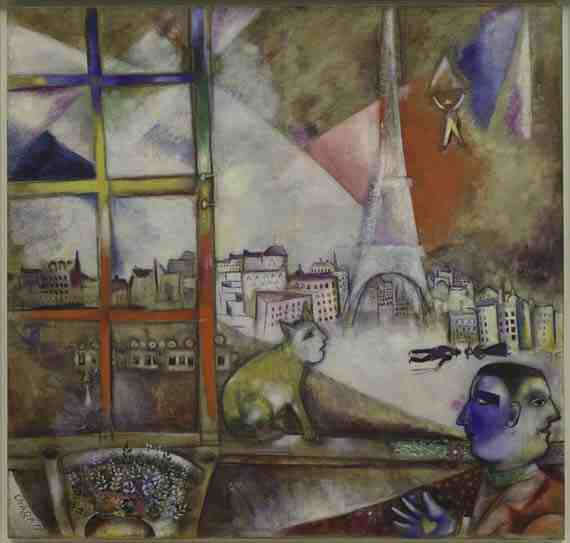 Marc Chagall: Paris Through the Window