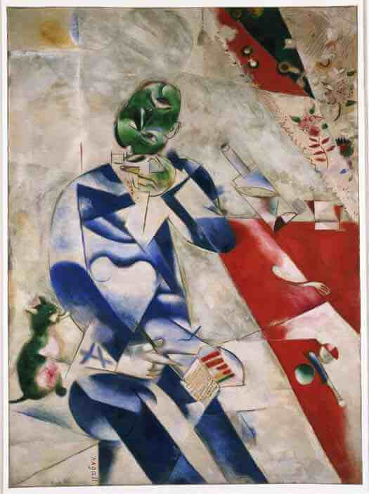 Marc Chagall: Half Past Three (The Poet)