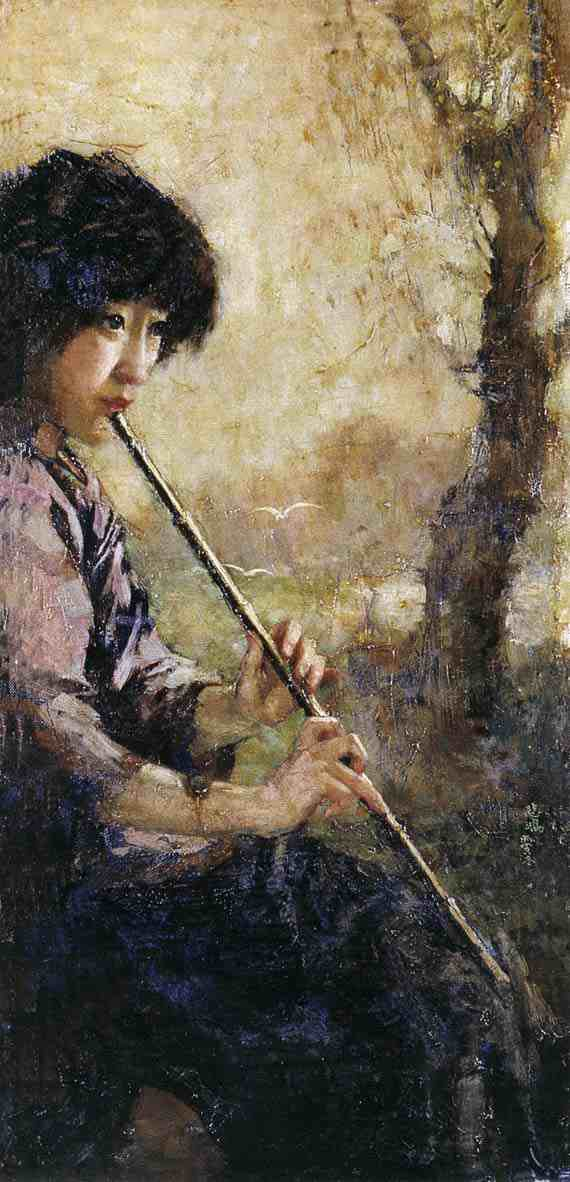 Xu Beihong: Sound of the Flute