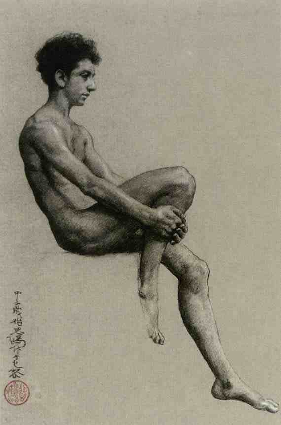 Xu Beihong: Study of a Male Nude