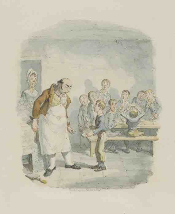 George Cruikshank Oliver Asking for More