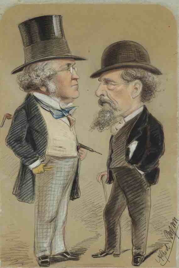 Alfred Bryan: Charles Dickens and William Makepeace Thackeray