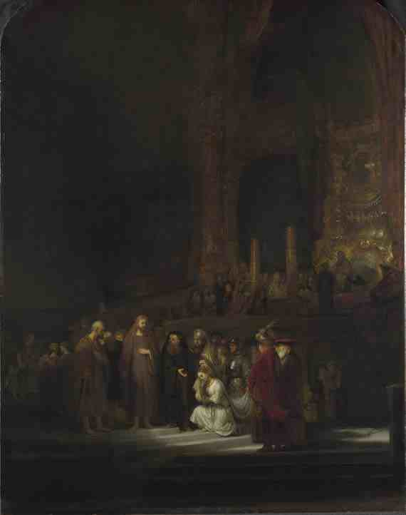 Rembrandt: Christ and the Woman Taken in Adultery