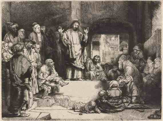 Rembrandt: Christ Preaching