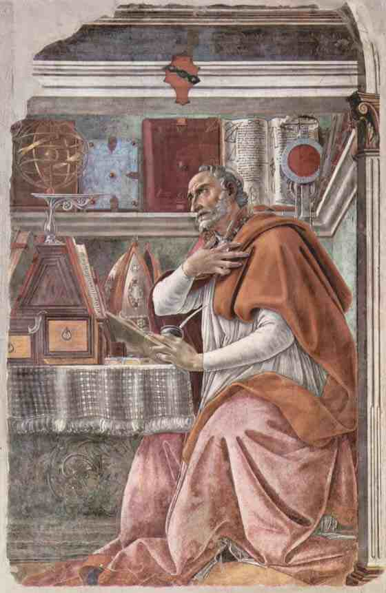 Sandro Botticelli: St. Augustine in His Studio