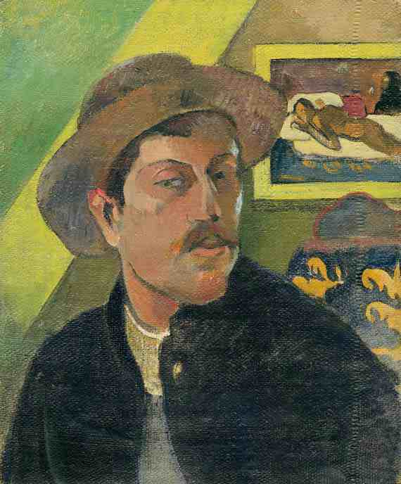 Paul Gauguin: Self-Portrait with Manao tupapau