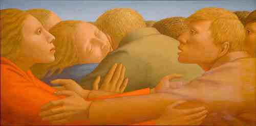 George Tooker: Embrace of Peace II