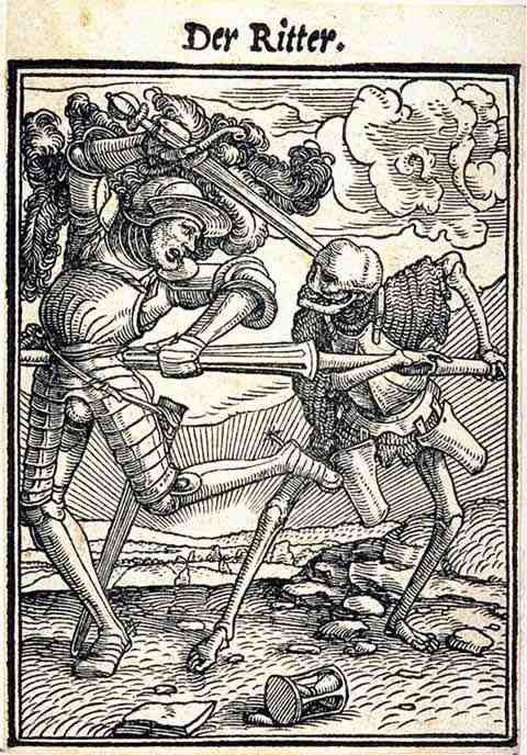 Death and the Knight (1538) by Hans Holbein The Younger