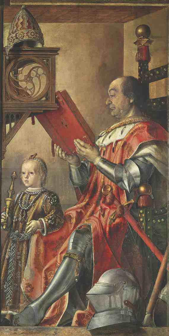 Pietro di Spagna: Federigo da Montefeltro and His Son Guidobaldo