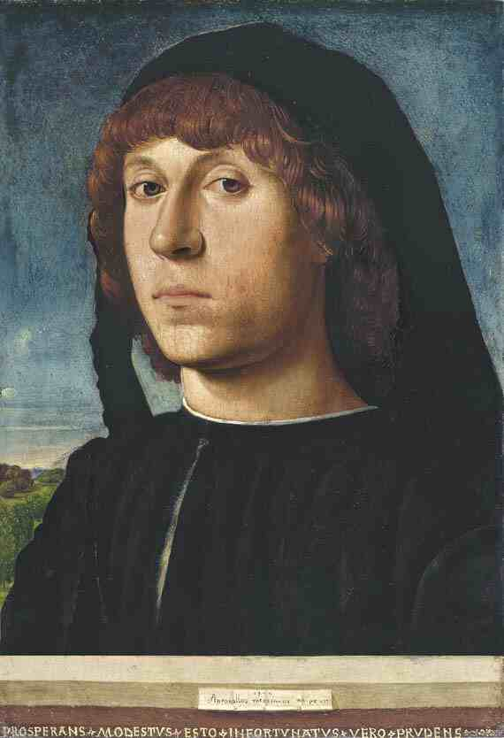 Antonello da Messina: Portrait of a Young Man
