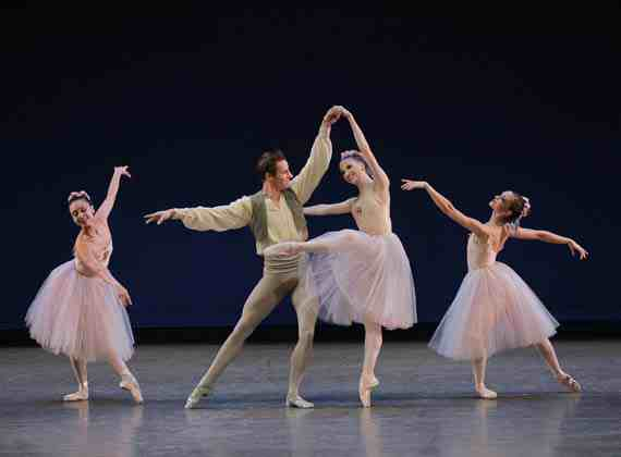 Likolani Brown, Andrew Veyette, Sara Adams and Lauren Lovette in Valse Fantaisie
