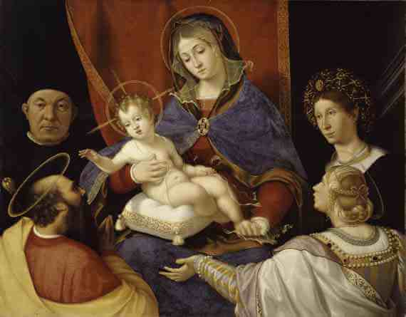 Previtali: Madonna and Child with Saints Paul and Agnes, and Paolo and Agnese Cassotti