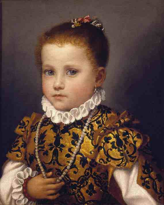 Giovanni Battista Moroni: Portrait of a Little Girl of the Redetti Family