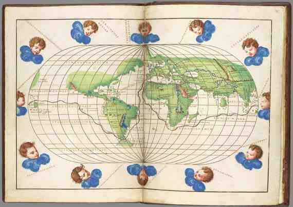 Battista Agnese: Map of the World with Magellan's Route