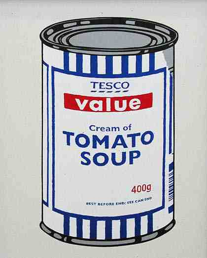 Discount Soup Can Banksy