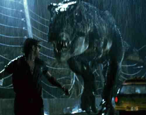 Rex chases Jeff Goldblum
