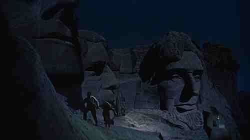 Cary Grant and Eva Marie Saint scamper across Mount Rushmore in North By Northwest's climax.