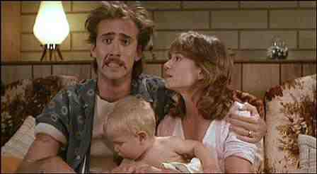 Raising Arizona - Holly Hunter and Nicolas Cage, with baby