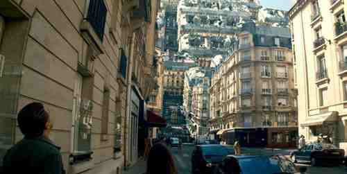 Paris upside down in Inception