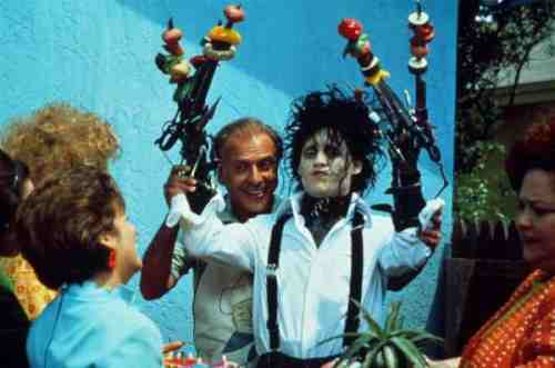 Arkin and Depp in Edward Scissorhands