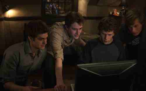The Social Network – Andrew Garfield, Jesse Eisenberg and pals
