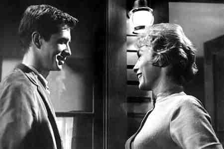 Anthony Perkins Janet Leigh Psycho still