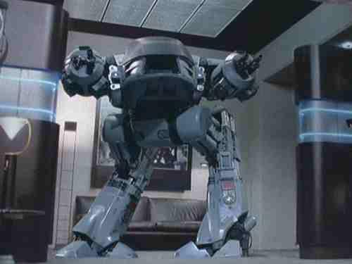 Robocop (1987, Paul Verhoeven) ED-209 first appearance
