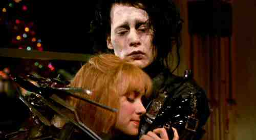 Edward Scissorhands (1990) - Edward (Johnny Depp) with Kim (Winona Ryder)