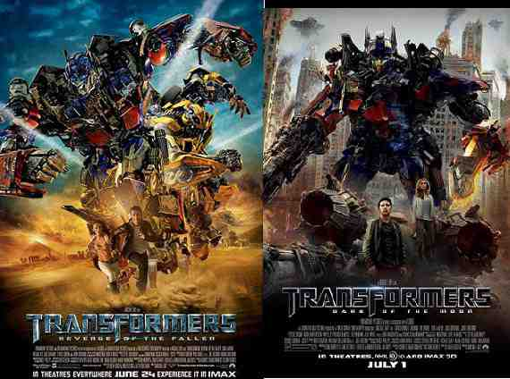 Comparison of Posters of Transformers 2 and 3