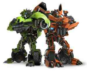 Mudflaps and Skids, the racist robots from Transformers: Revenge of the Fallen