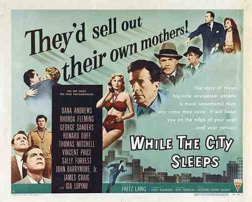 While The City Sleep (1956) - Promotional poster