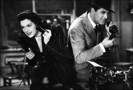 His Girl Friday (1940) - Cary Grant vs. Rosalind Russell