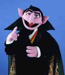 The Count counts to one